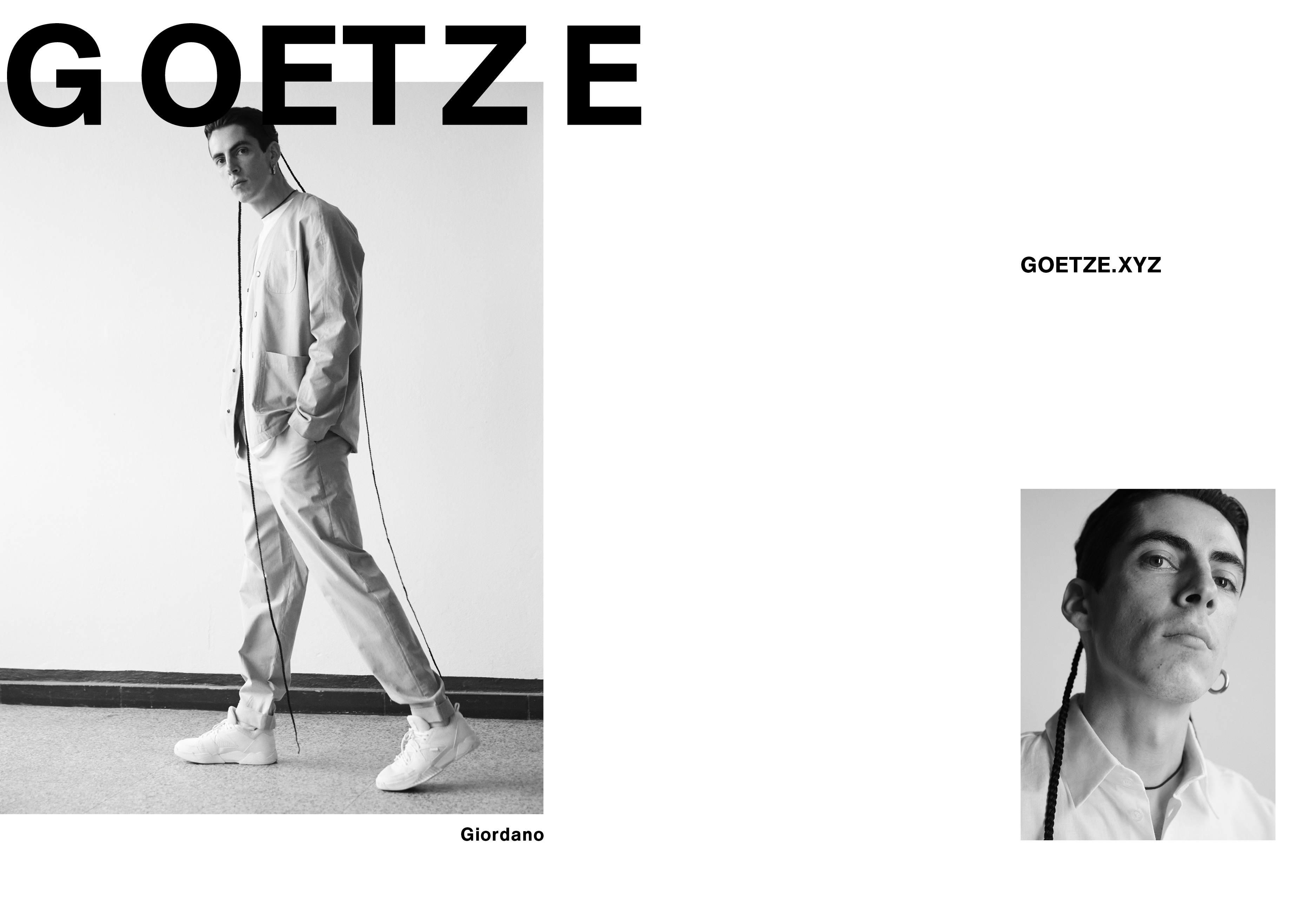 OLIVER MOORE Art Direction and Graphic Design  Torstrasse 98 10119 Berlin  studio@olivermoore.de +49 177 7466676 GOETZE campaign SS17