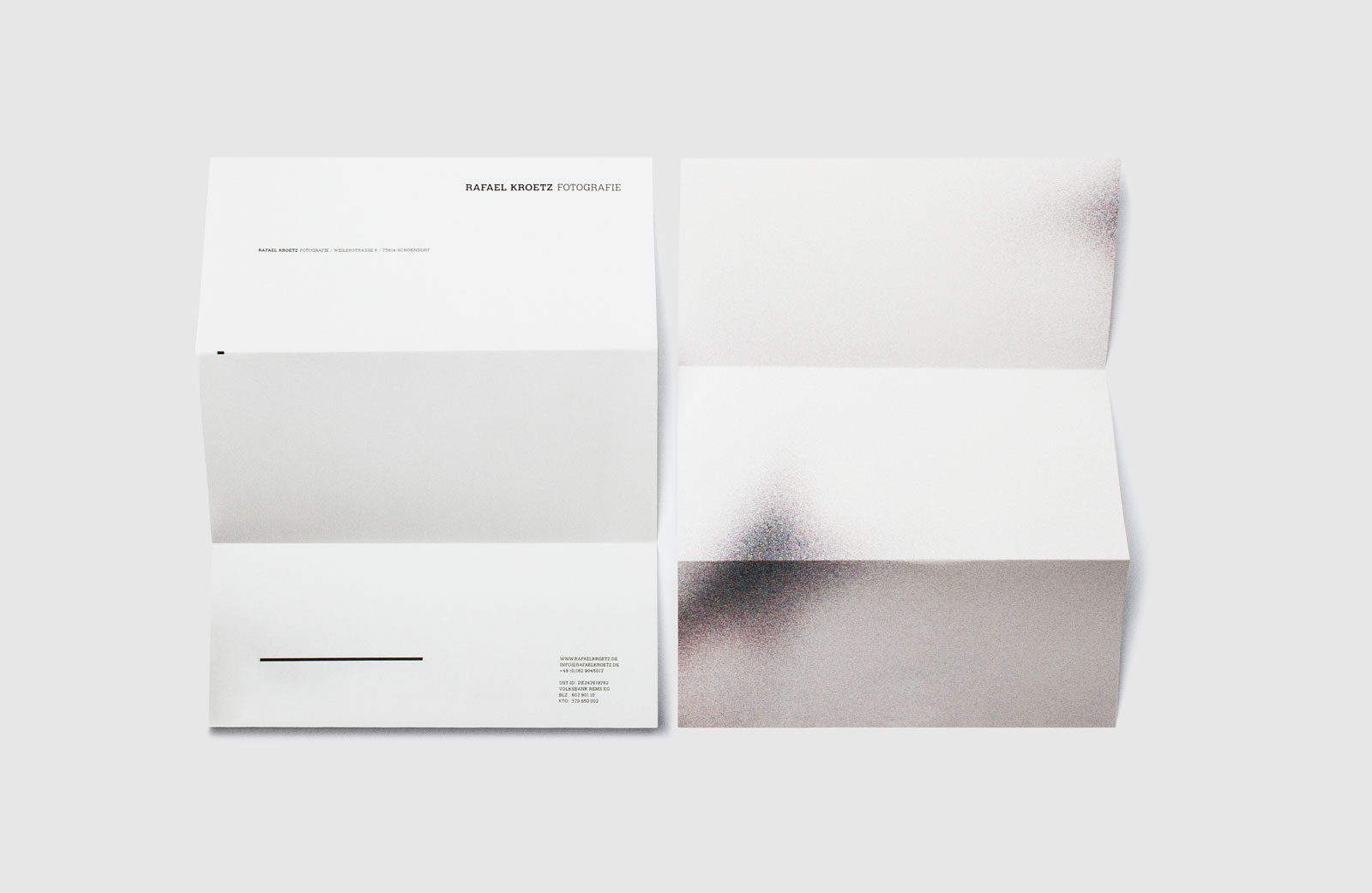 OLIVER MOORE Art Direction and Graphic Design  Idastrasse 17 13156 Berlin  studio@olivermoore.de +49 (0)30 40368971 Rafael Krötz corporate identity